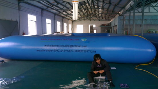 2019 Most Popular 0.9mm PVC Tarpaulin Giant Inflatable Swimming Pool with Logo Printing