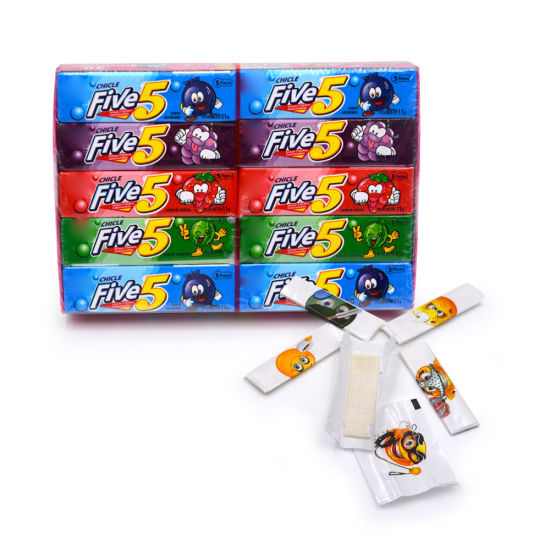 5PCS Bubble Gum with Tattoo