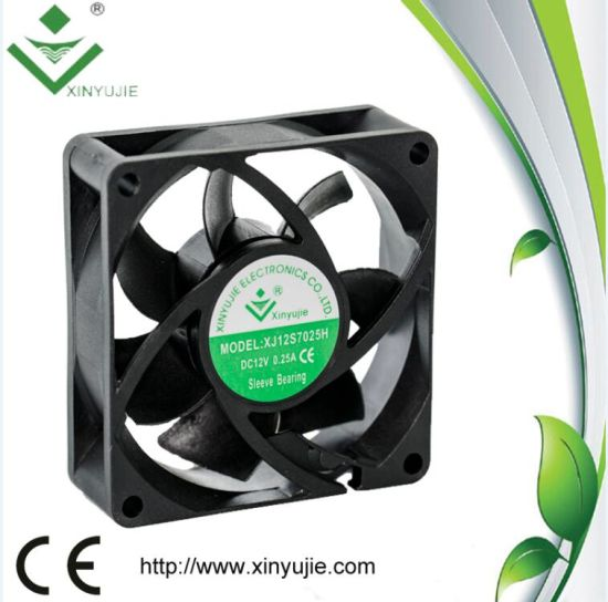 12V High Cfm Small Appliance Cooling Fans 70X70X25mm pictures & photos