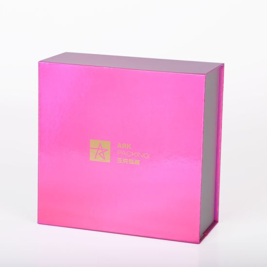 Custom Gold Logo Luxury Cardboard Packaging Box Rigid Box Paper Gift Box Cosmetic Box Folding Box with Magentic