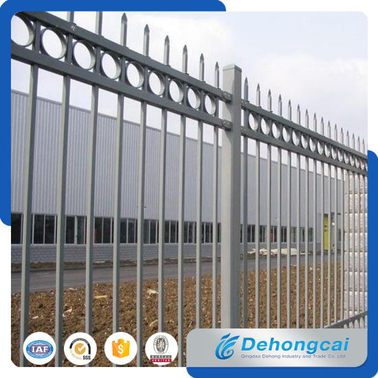 Outdoor Steel Garden Fencing / Wrought Iron Fence Gate For Home