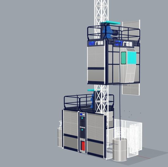 Double Cage Sc200 Construction Hoist Building Hoist with Adjustable Speed CE Approved