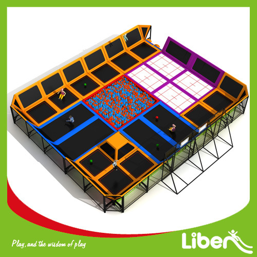 for Sale Indoor Trampoline Court with Foam Pit and Basketball pictures & photos