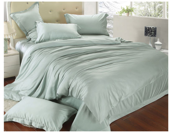 Bamboo and Spandex Blend Customized Bed Sheets Sets pictures & photos