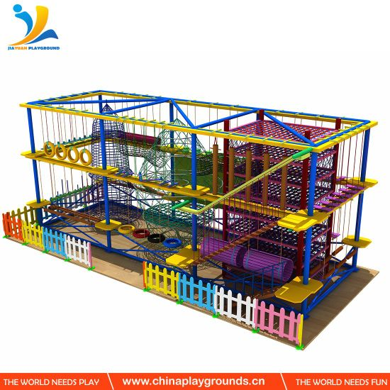 New&Innovation Children Indoor Playground Rope Challenge Course Playground