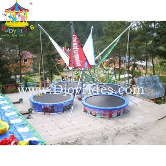 Outdoor Park Bungee Jumping Equipment for Sale/4 in 1 Bungee Trampoline for Kids and Adults (DJBTR31) pictures & photos