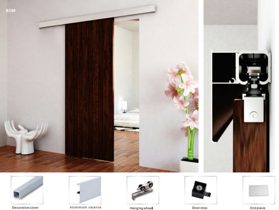 Interior Room Veneered Wooden Sliding Door, Sliding Door Track, Sliding  Door Lock