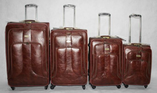 PU Leather Bags 4 Wheels Travel Bag Suitcase