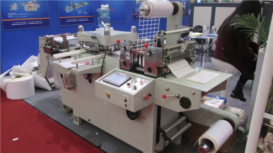 Full Automatc Roll to Roll Continuous Free Adhesive Tape Die Cutting Machine (CE certficate)