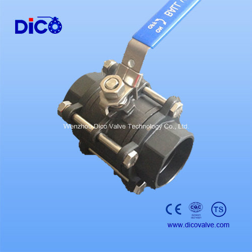 Wcb 3PC Ball Valve with Locked End