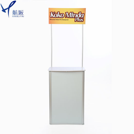 Hight Quality Aluminium/PVC/ABS Sampling Booth Promotion Table pictures & photos