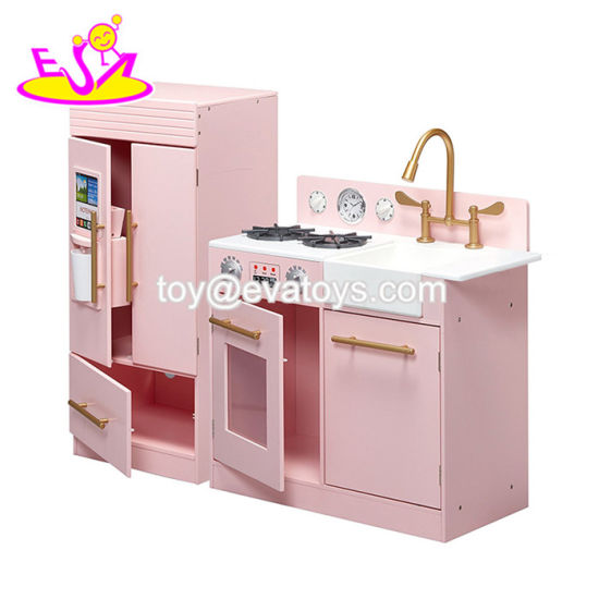 China Interactive Big Kitchen Set Wooden Kids Cooking Kits For