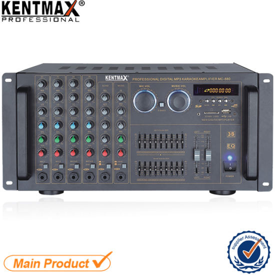 China Public Address Mixer 120W Subwoofer Amplifier with USB