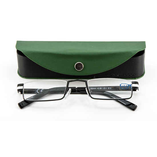 Latest Design Fashion Metal Reading Glasses Eyewear with Case pictures & photos