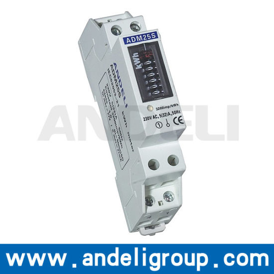 Single Phase DIN-Rail Watt-Hour Meter (ADM25S) pictures & photos