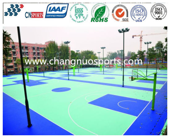 Green Campus Environmental Basketball Court Sports Flooring Made in China pictures & photos