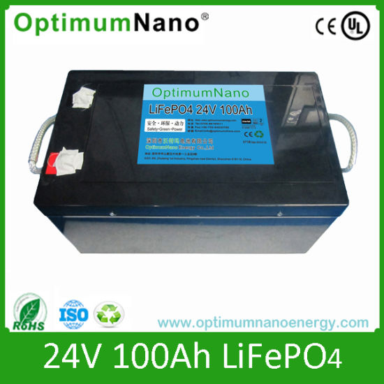 LiFePO4 Battery 24V 100ah for Solar Energy/Wind Power/ Emergency Storage pictures & photos