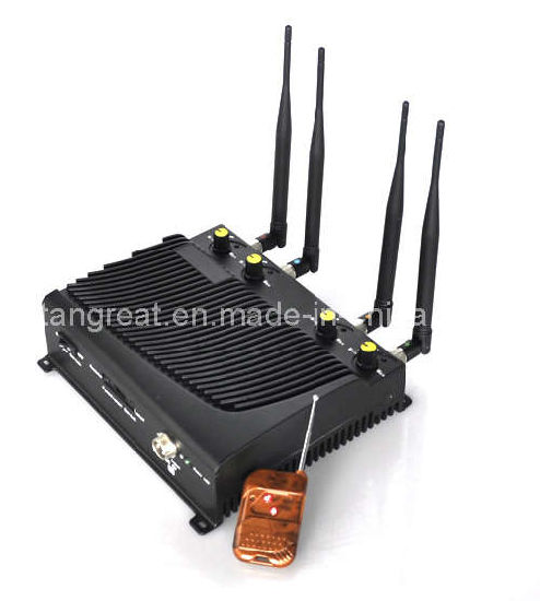 Adjustable Cellular Phone and WiFi Jammer, with Remote Control (TG-4CA)