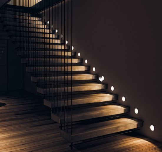 Modern Style Indoor U Shape/L Shape Wooden Straight Staircase