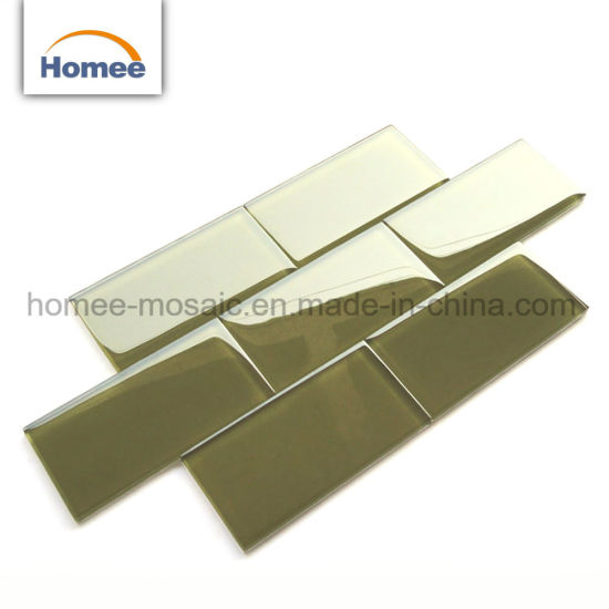 Linear Strip Kitchen Crystal Green Jade Color Gl Subway Mosaic Tile