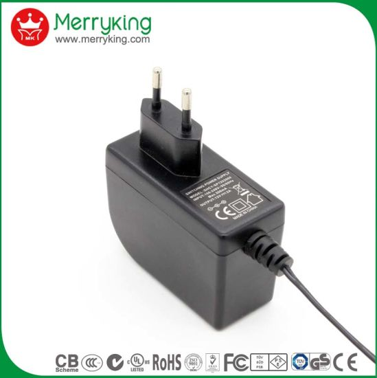 Ce GS BS Wholesale High Quality 12V Wall Power Adapter 12V 2A AC DC Switching Power Supply EU Plug