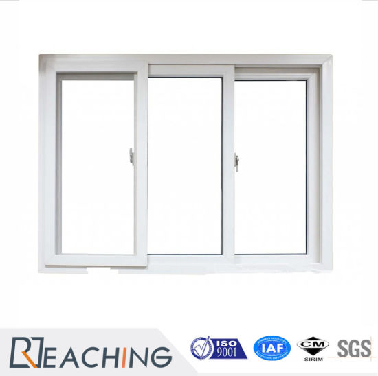 China White UPVC Profile Frame Single Glass Sliding Window - China ...