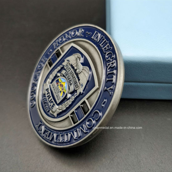 China Custom Metal Double-Sided Enamel Police Commemorative
