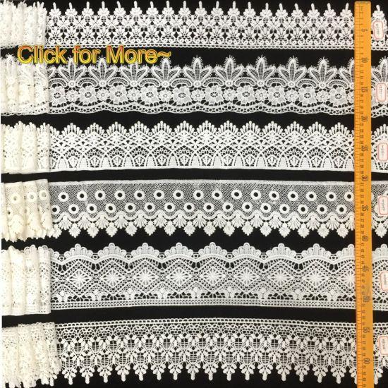 Crochet White Wedding Trimming Lace Milk Silk Venice Lace Trim