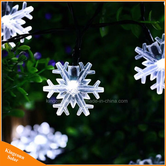 China colorful snowflake solar powered strings lights for outdoor colorful snowflake solar powered strings lights for outdoor holiday tree aloadofball Images