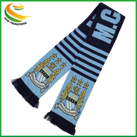 Wholesale Sport Soccer Fans Knitted Scarf for 2018 World Cup