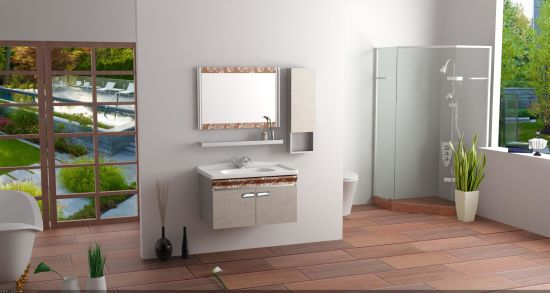 Wall Mounted Stainless Steel Toilet Bathroom Set Modern Furniture Cabinet