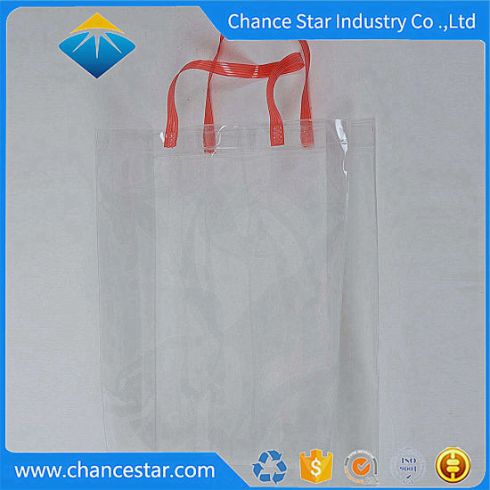 Custom Vinyl Transparent PVC Shopping Bag for Garment