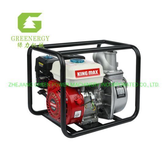 Original Kingmax 3inch Gx200 Portable Kerosene Gasoline Water Pump with Oil Alert From Green Power