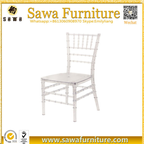 china quality resin clear acrylic crystal chiavari chair tiffany