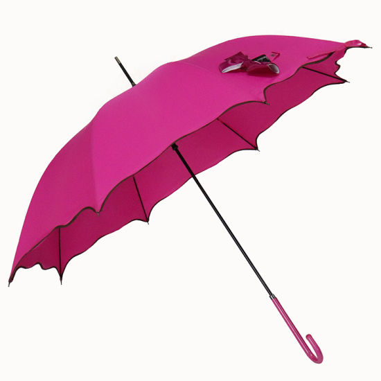 Creative Gift Flower-Shaped Straight Umbrella Advertisement Umbrella for Girls