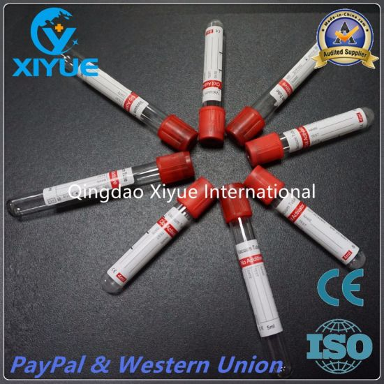Ce & ISO Disposable Vacuum Blood Collection Clot Activator Tube with High Quality