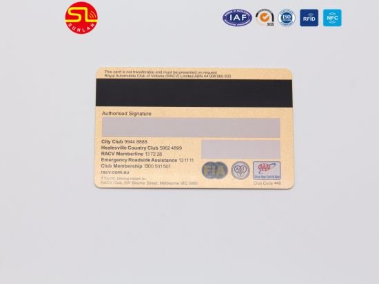 High Quality PVC Magnetic Stripe Card with Hot Stamping pictures & photos