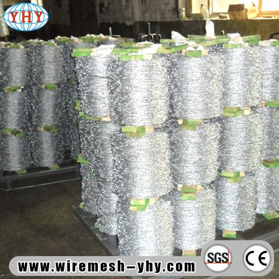 China 12X14 Bwg Hot Galvanized Barbed Wire Fence - China Barbed Wire ...