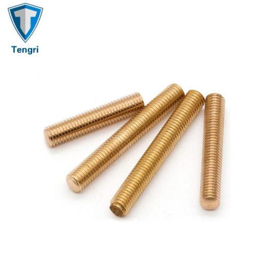 High Quality Brass Stud Bolt Threaded Rods Screw Nut
