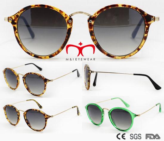 b8adfe134ff China Fashion Round Shape Frame UV400 Metal Sunglasses (WSP7101052 ...