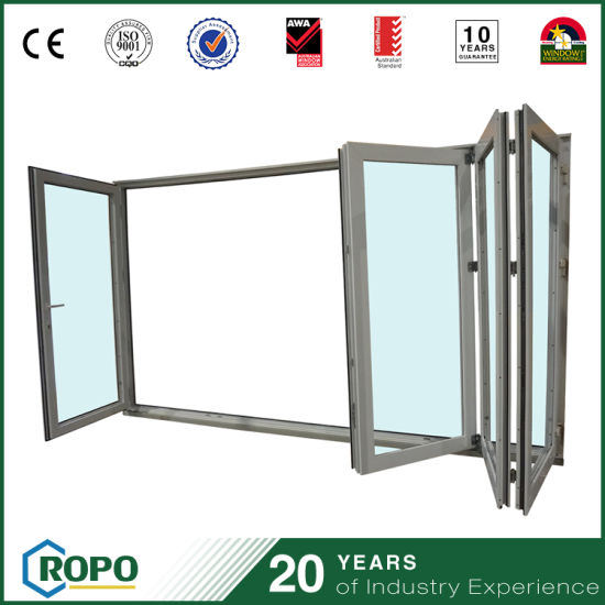 China Double Glass Pvc Folding Door Interior Upvc Door Hot Sale