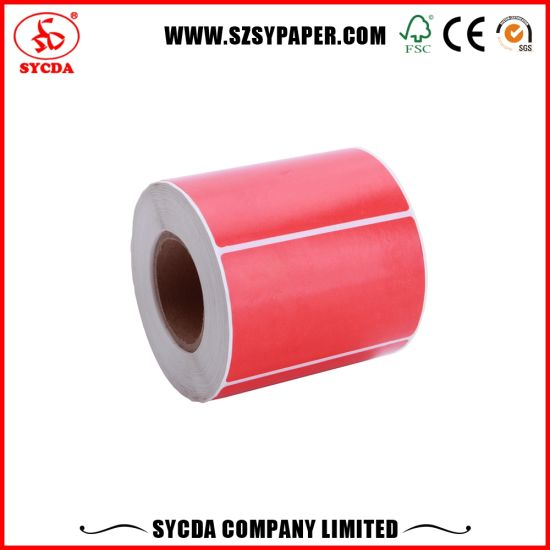 Sticker Thermal Paper Roll Self Adhesive Label Paper