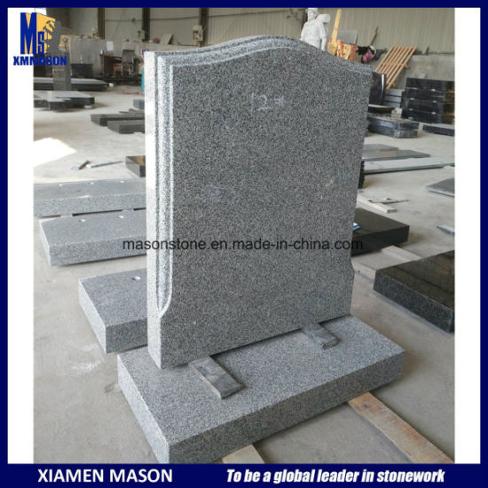 Cheap Chinese Granite Grey Headstones for Sale