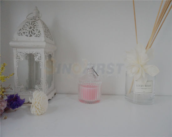 China New Style Luxury Glass Jar Wedding Decoration Candle China