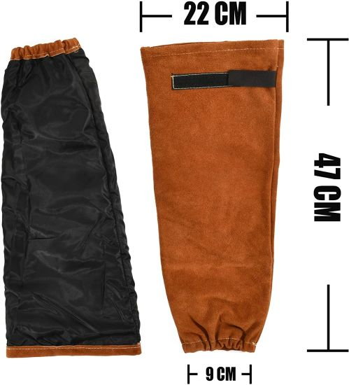 Welding Sleeves Heat/&Flame Resistant Arm /& Gloves Protection Leather Welding gloves