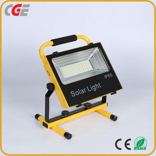 High Power Lighting Solar LED Flood Light 50 Watt 100 Watt Commercial Grade Floodlight Adjustable