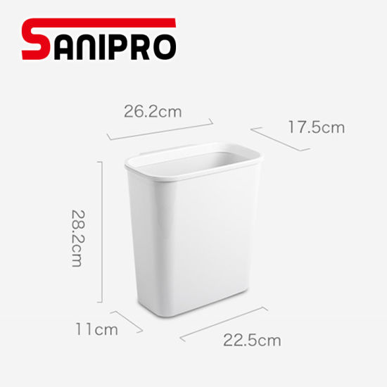 Sanipro Bedroom Bathroom Plastic Grey Small Mini Garbage Bin Plastic Resin Deskside Wastebasket Hanging Kitchen Trash Can China Trash Can And Plastic Trash Can Price Made In China Com