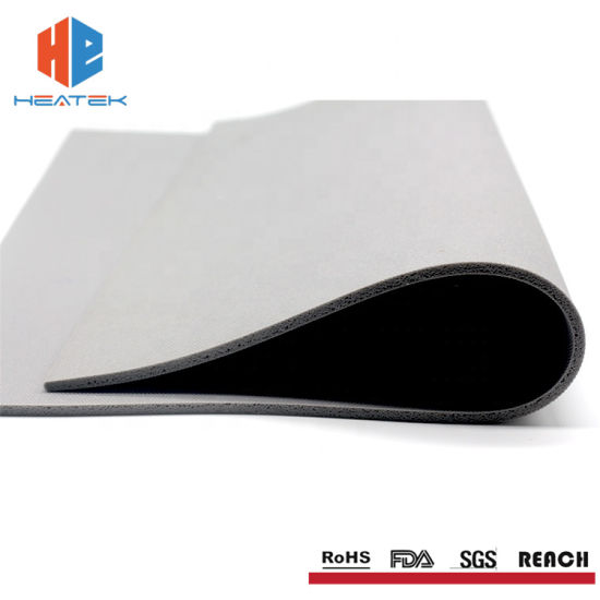 Cloth Marks Surface Low Density High Temperature Silicone Foam Rubber Sheet