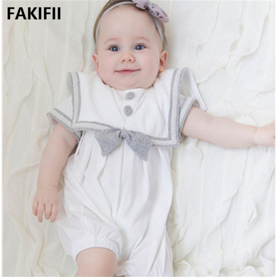 2021 Fashion Brand Newest 100% Cotton Short Sleeve Jumper Baby Romper for Infant
