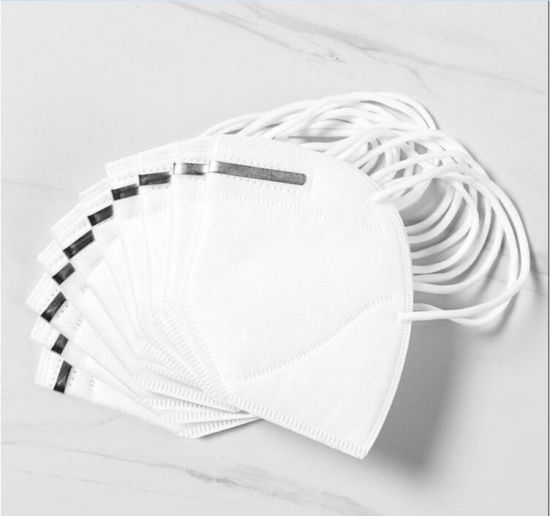 White Folding KN95 Earloop 3 Ply Non-Woven Protective Face Mask in Stock